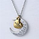 hesapli Kolyeler-Y kolye - Kalp, Çiçek Gümüş Kolyeler Uyumluluk Doğumgünü, Parti / Gece, Hediye