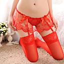 olcso Latin cipők-Női Csipke Harisnyakötős fehérnemű / Harisnyatartók és zoknitartók / Csipke fehérnemű Hálóruha - Háló, Karácsony Egyszínű / Ultra szexi / Ruhák