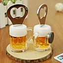 halpa Korkkiruuvi & avaajat-2 in 1 ruostumatonta terästä olut muotoinen pullonavaaja jääkaappi muistio magneetti