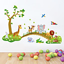cheap Wall Stickers-Animals Cartoon Wall Stickers Plane Wall Stickers Decorative Wall Stickers, PVC Home Decoration Wall Decal Wall