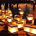 ieftine Lumânări & Suport de Lumânări-chineză pătrat care doresc lantern plutitoare de apă felinare lumina lampă cu lumânare