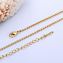 cheap Necklaces-Women's Chain Necklace - 18K Gold Plated, Pearl Gold, White Necklace For
