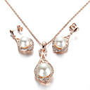 cheap Jewelry Sets-Women's Crystal Jewelry Set - Pearl, Crystal, Imitation Pearl Simple Style Include For Wedding / Party / Daily / Cubic Zirconia