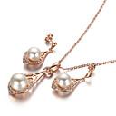 preiswerte Modische Halsketten-Kristall Schmuck-Set - Perle, Kubikzirkonia Luxus, Retro, Party Einschließen Für Party Besondere Anlässe Jahrestag / Ohrringe / Halsketten