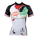 preiswerte Radtrikots-ILPALADINO Damen Kurzarm Fahrradtrikot - Weiß / Regenbogen Fahhrad Trikot / Radtrikot, Rasche Trocknung, UV-resistant, Atmungsaktiv