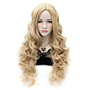 cheap Steampunk-movie wig long charming curly cosplay costume full heat resist wig flaxen Halloween