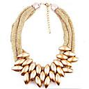 baratos Colares-Mulheres Camadas Colares Declaração / colares em camadas - Punk, Europeu, Multi Camadas Dourado, Prata, Arco-Íris Colar Para