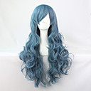 cheap Starter Tattoo Kits-Synthetic Wig / Cosplay & Costume Wigs Wavy Synthetic Hair Blue Wig Women's Long Capless