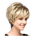 cheap Synthetic Capless Wigs-Synthetic Wig Straight Bob Haircut / With Bangs Synthetic Hair Dark Roots / Side Part Wig Women's Short Capless