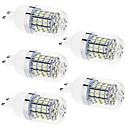 billige LED-lyspærer-g9 led corn lyser t 60 smd 2835 350lm varm hvit naturlig hvit 3500k / 6500k dekorativ ac 220-240 ac 110-130v
