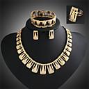 preiswerte Kleideruhr-Niedlich / Party - Damen - Halskette / Ohrring / Armband / Ring (Vergoldet / Legierung / Zirkonia)