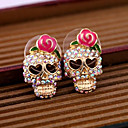 cheap Men's Necklaces-Women's Stud Earrings - Skull Pink For Daily / Casual