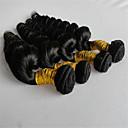 hesapli Düğün Resepsiyonu-3 Paket Düz Brezilya Saçı Gevşek Dalgalar Virgin Saç İnsan saç örgüleri İnsan saç örgüleri İnsan Saç Uzantıları