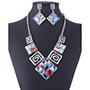 cheap Jewelry Sets-Crystal Jewelry Set - Vintage, Party, Work Include Screen Color For Party