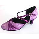 billige Moderne sko-Kan spesialtilpasses-Dame-Dansesko-Moderne-Sateng Glimtende Glitter-Kustomisert hæl-Lilla