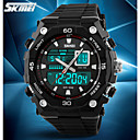 cheap Synthetic Wigs-SKMEI Men's Sport Watch / Wrist Watch / Digital Watch Alarm / Calendar / date / day / Chronograph Rubber Band Charm Black / Water Resistant / Water Proof / LCD / Dual Time Zones