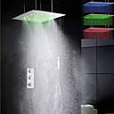 preiswerte Duscharmaturen-Duscharmatur - zeitgenössische Chrom Deckenmontage Messingventil geführt