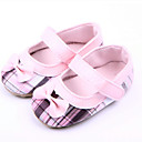 cheap Baby Shoes-Girl's Flats Spring / Fall First Walkers Fabric Casual Pink / Red