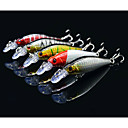 cheap Connectors & Terminals-5 pcs Hard Bait / Minnow / Lure kits Hard Bait / Minnow / Lure Packs Hard Plastic Sea Fishing / Bait Casting / Freshwater Fishing / Bass Fishing / Lure Fishing / Trolling & Boat Fishing
