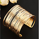 cheap Bracelets-Women's Layered Hollow Cuff Bracelet Wide Bangle - Unique Design, Vintage, Party Bracelet Gold For Party Daily