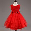 cheap Girls' Dresses-Kids Girls' Floral Sleeveless Dress / Bow / Layered / Sweet