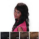 billige Hengelamper-Ekte hår Blonde Forside Parykk Løse bølger Parykk 130% Naturlig hårlinje / Afroamerikansk parykk / 100 % håndknyttet Dame Kort / Medium / Lang Blondeparykker med menneskehår