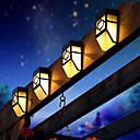 preiswerte Außenwandleuchten-2 LEDs Warmes Weiß Wiederaufladbar / Dekorativ Batterie