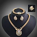 cheap Jewelry Sets-Crystal Jewelry Set - Cubic Zirconia Statement, Cuff, Vintage Include Gold For Party Special Occasion Anniversary / Earrings / Necklace