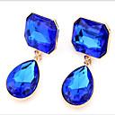 cheap Jewelry Sets-Women's Cubic Zirconia Stud Earrings / Drop Earrings - Cubic Zirconia Drop Fashion Purple / Screen Color / Dark Green For