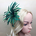 cheap Party Headpieces-Feather Fascinators Flowers 1 Wedding Special Occasion Headpiece