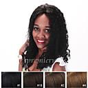 preiswerte Echthaar Perücken mit Spitze-Echthaar Vollspitze Perücke Locken Perücke 130% Natürlicher Haaransatz / Afro-amerikanische Perücke / 100 % von Hand geknüpft Damen Kurz / Medium / Lang Echthaar Perücken mit Spitze