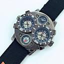 お買い得  宗教的なジュエリー-JUBAOLI 男性用 軍用腕時計 クォーツ レザー ブラック / レッド / ブラウン カレンダー ハンズ Brown ワイン ダークグリーン