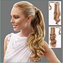 abordables Cabello Ondulado Natural-Con Clip Coletas Pelo sintético Pedazo de cabello La extensión del pelo Ondulado Grande