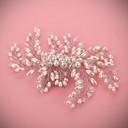 preiswerte Parykopfbedeckungen-Perlhaar Kämme Kopfstück Hochzeitsgesellschaft elegant femininen Stil