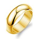 رخيصةأون خواتم-للرجال عصابة الفرقة - الصلب التيتانيوم, مطلية بالذهب موضة 7 / 8 / 9 أبيض / ذهبي من أجل زفاف / حزب / يوميا