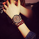 cheap Bracelet Watches-Women's Quartz Bracelet Watch Casual Watch PU Band Elegant Fashion Black