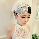 cheap Human Hair Capless Wigs-Acrylic Barrette with 1 Wedding / Special Occasion Headpiece