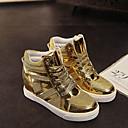 ieftine Adidași de Damă-Pentru femei Pantofi Piele Originală / Tul Primăvară / Toamnă Confortabili Toc Platformă Dantelă Negru / Argintiu / Auriu