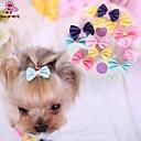 hesapli Köpek Oyuncakları-Kedi Köpek Saç Aksesuarları Papyonlar Köpek Giyimi Koyu Mavi Sarı Gül Mavi Pembe Karışık Materyal Kostüm Evcil hayvanlar için Cosplay