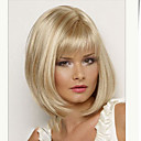 cheap Synthetic Capless Wigs-Synthetic Wig Straight Blonde Bob Haircut / With Bangs Synthetic Hair Side Part / With Bangs Blonde Wig Women's Short Capless
