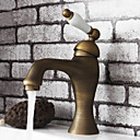 cheap Bathroom Sink Faucets-Bathroom Sink Faucet - Rotatable Antique Brass Centerset One Hole / Single Handle One Hole