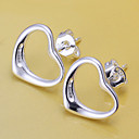 cheap Earrings-Women's Stud Earrings - Silver Plated Heart, Love Silver For