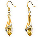 cheap Earrings-Women's Crystal Drop Earrings - Cubic Zirconia, Gold Plated, Austria Crystal Gold For