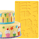 preiswerte Kunstblume-Backwerkzeuge Kunststoff Kuchen Kuchenformen 1pc