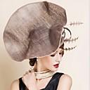 abordables Chatitas de Mujer-Celada Sombreros Boda / Ocasión especial Lino Mujer Boda / Ocasión especial 1 Pieza