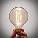 hesapli Akkor-1pc 40 W E26 / E27 G80 Sıcak Beyaz 2300 k Incandescent Vintage Edison Ampul 220-240 V / 110-130 V