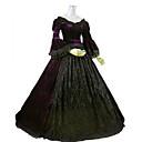 tanie Kostiumy dla Dorosłych-Gotycka Lolita Rokoko Barok Wiktoriańskie Koronka Damskie Sukienka Cosplay Ciemnofioletowy Balowa Długi rękaw Długa Puszysta Dostosowane Kostiumy