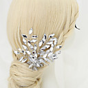 cheap Party Headpieces-Crystal Rhinestone Alloy Hair Combs 1 Wedding Special Occasion Headpiece