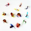 رخيصةأون طعم صيد الأسماك-12 pcs الذباب خدع الصيد الذباب معدن الطفو صيد أسماك علي الطائر