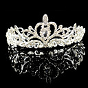 cheap Jewelry Sets-Crystal Rhinestone Alloy Tiaras 1 Wedding Special Occasion Headpiece